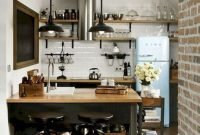 Awesome Small Kitchen Design And Decor Ideas38