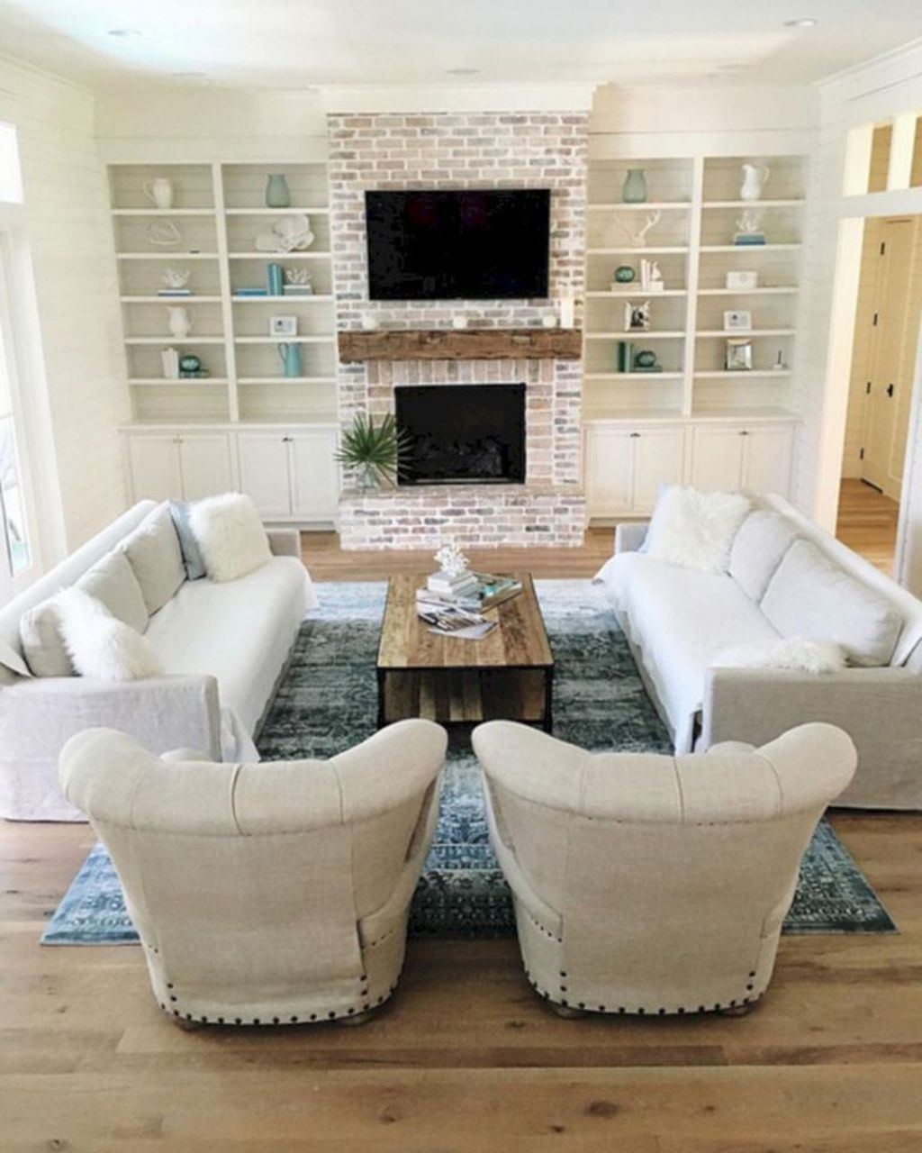 Relaxing Living Rooms Design Ideas With Fireplaces39