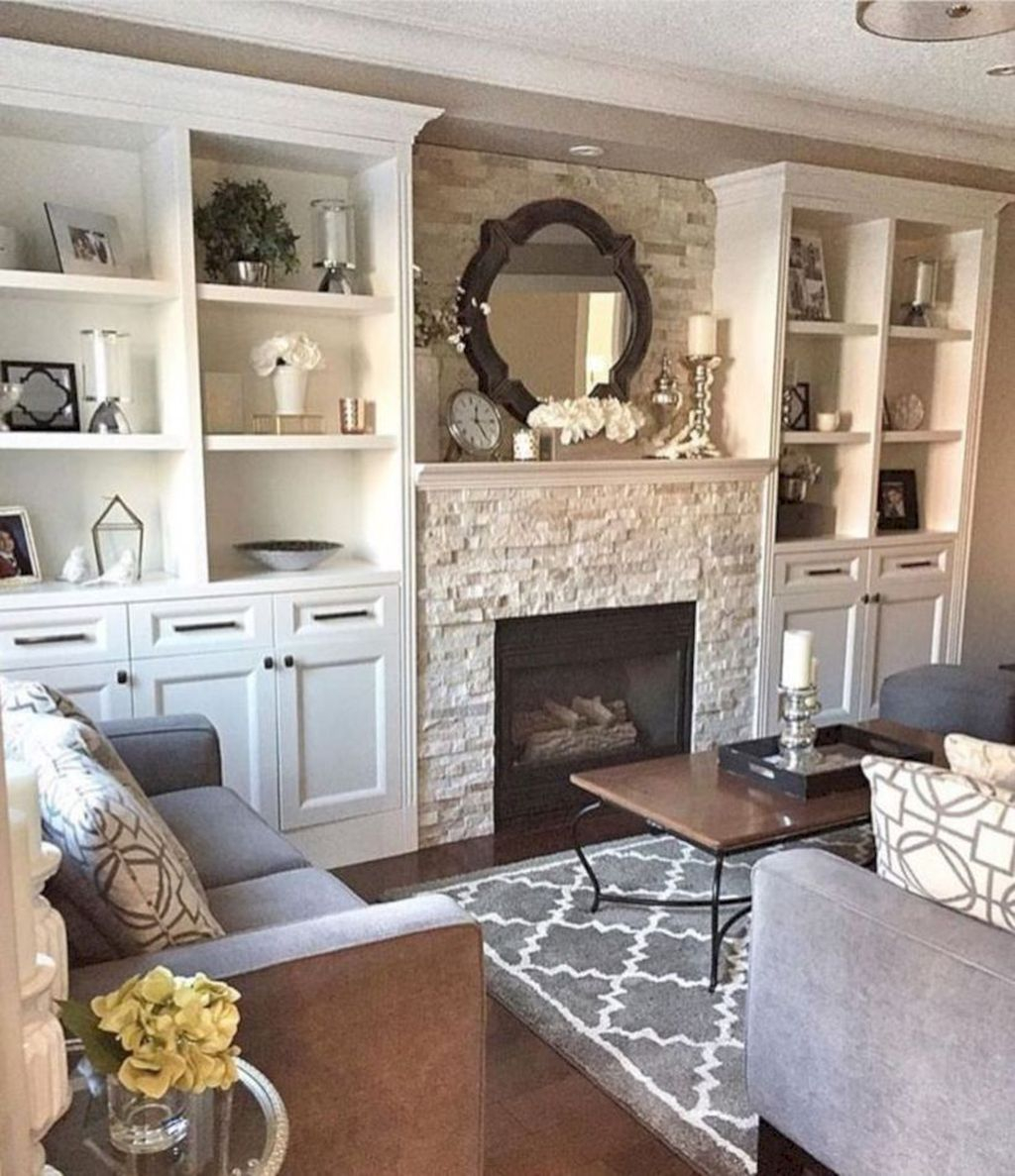 Relaxing Living Rooms Design Ideas With Fireplaces44