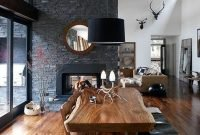 Warm Cozy Rustic Dining Room Designs For Your Cabin14
