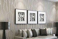 Modern Wallpaper Decoration For Living Room Ideas28