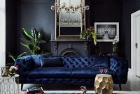 Cozy And Luxury Blue Living Room Ideas27